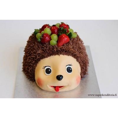Iloinen siili kakku