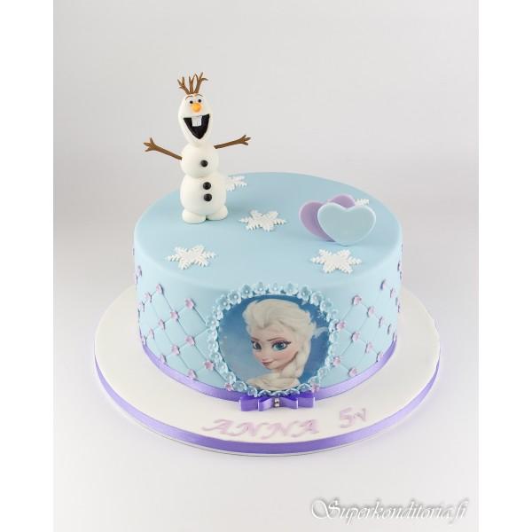 Frozen Elsa ja Olaf kakku
