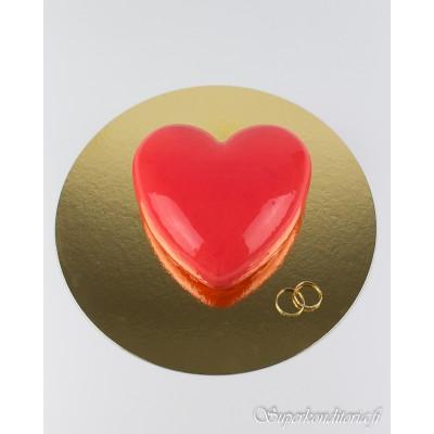 Sydän moussekakku ja sormukset 4hlö 33€