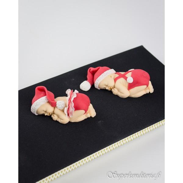 Joulutontut kakunkoristeet