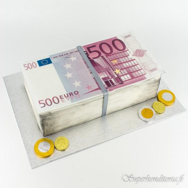 500 euron kakku 10 hlö
