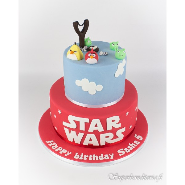 Angry Birds / Star Wars kakku