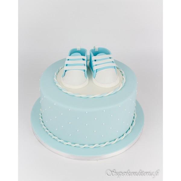 Poikavauvan Baby Shower kakku